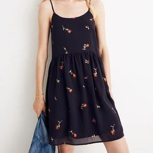 Madewell Embroidered Babydoll Cami Dress